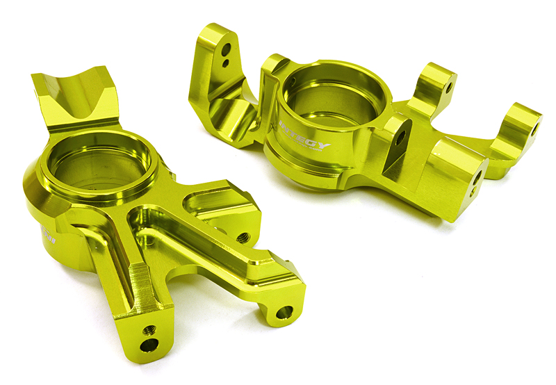 Integy RC Toy Model Hop-ups C26838GREEN Billet Machined Steering Knuckles for Traxxas... by Integy