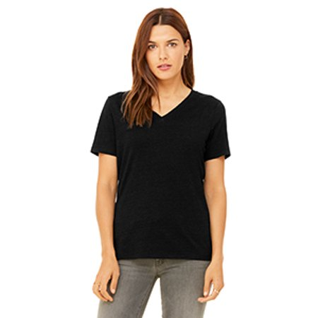 Bella + Canvas Ladies' Relaxed Jersey Short-Sleeve V-Neck T-Shirt