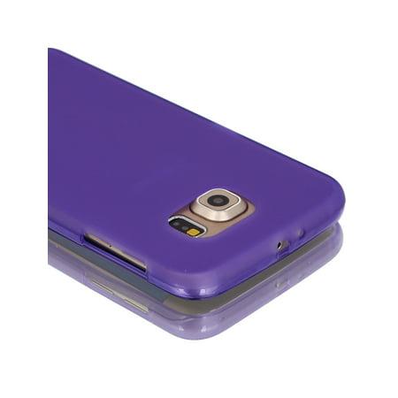 Purple Back Case Cover Protector w Protective Film Wiper for S6/G925 - image 5 de 7