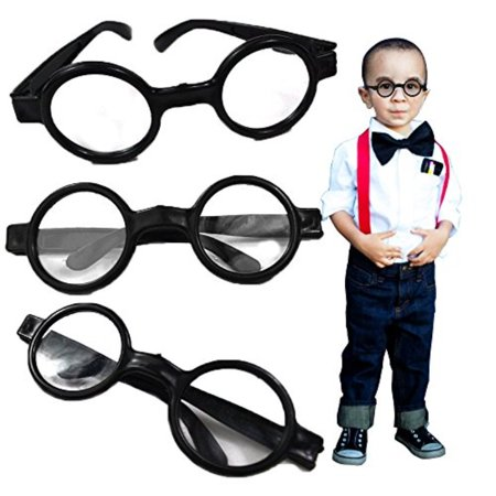 Nerd and Round Wizard Glasses - 12 Piece Party Favor