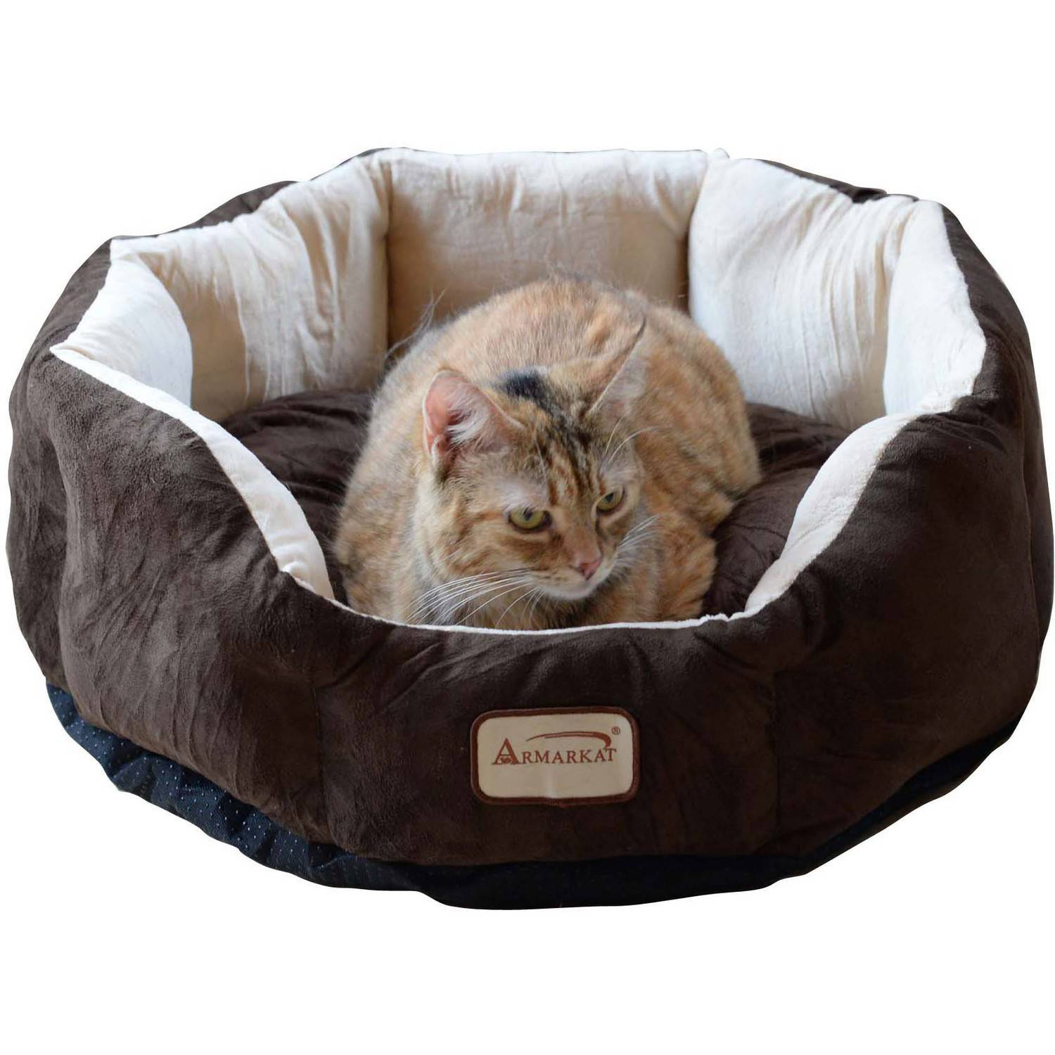 Armarkat Cozy Pet Bed , Mocha and Beige