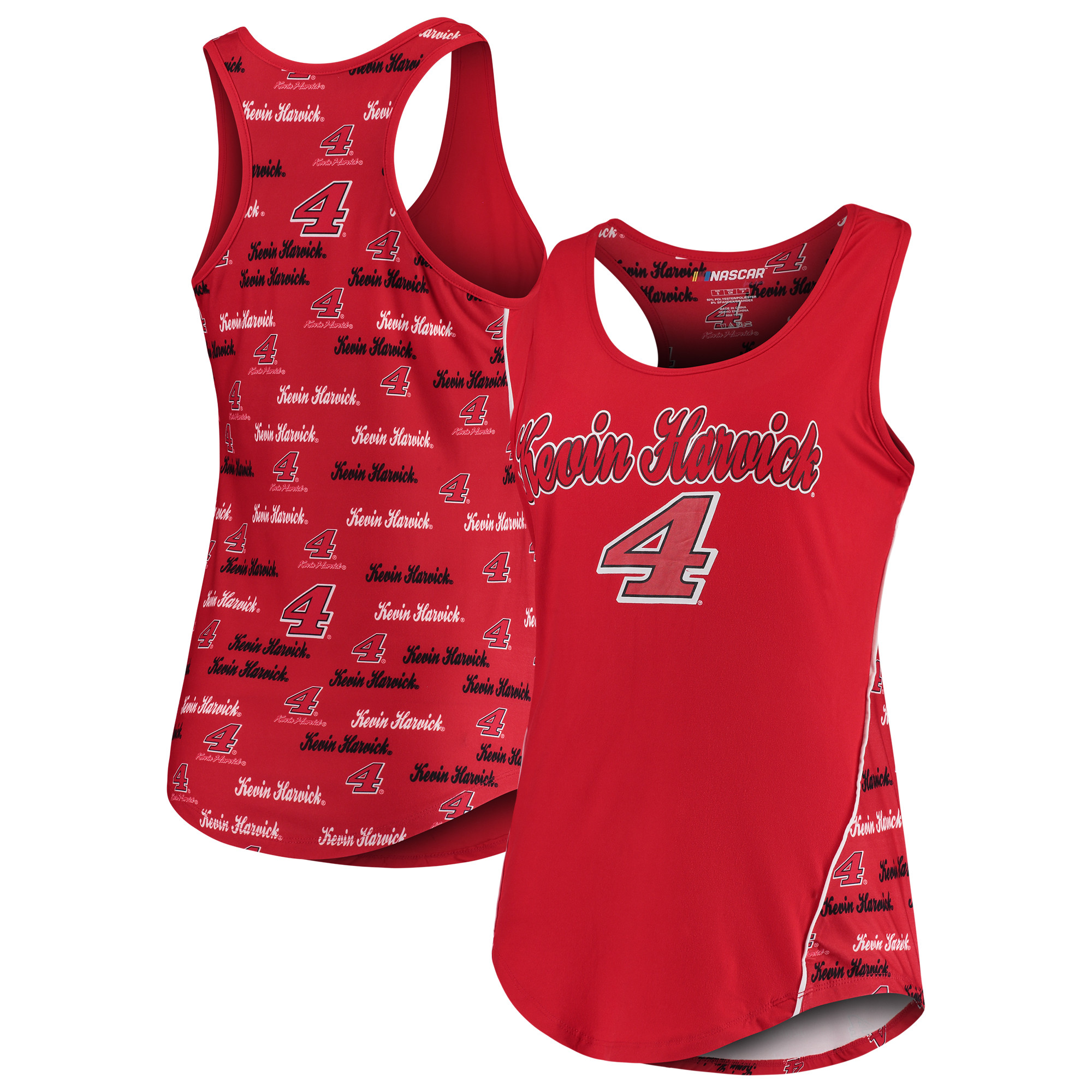 Kevin Harvick Concepts Sport Women's Recover Tank Top - Red