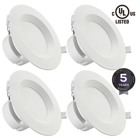 4 Pack 6 Inch 9w Led Recessed Light Dimmable Lighting 2700k Soft White