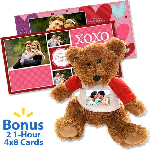 Valentine's Day Teddy Bear Personlized with Photo