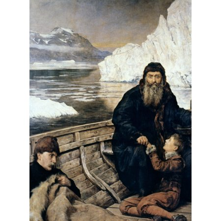Henry Hudson And Son Nthe Last Voyage Of Henry Hudson  D 1611  Oil On Canvas By John Collier  1850 1934  Poster Print By Granger Collection