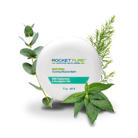 Natural Cooling Muscle Balm. Relief Before or After Exercise, Soothes Pain, Tired and Sore Muscles. Natural Balm Made in the U.S. is Better Than Other Creams, Gels and Ointments.