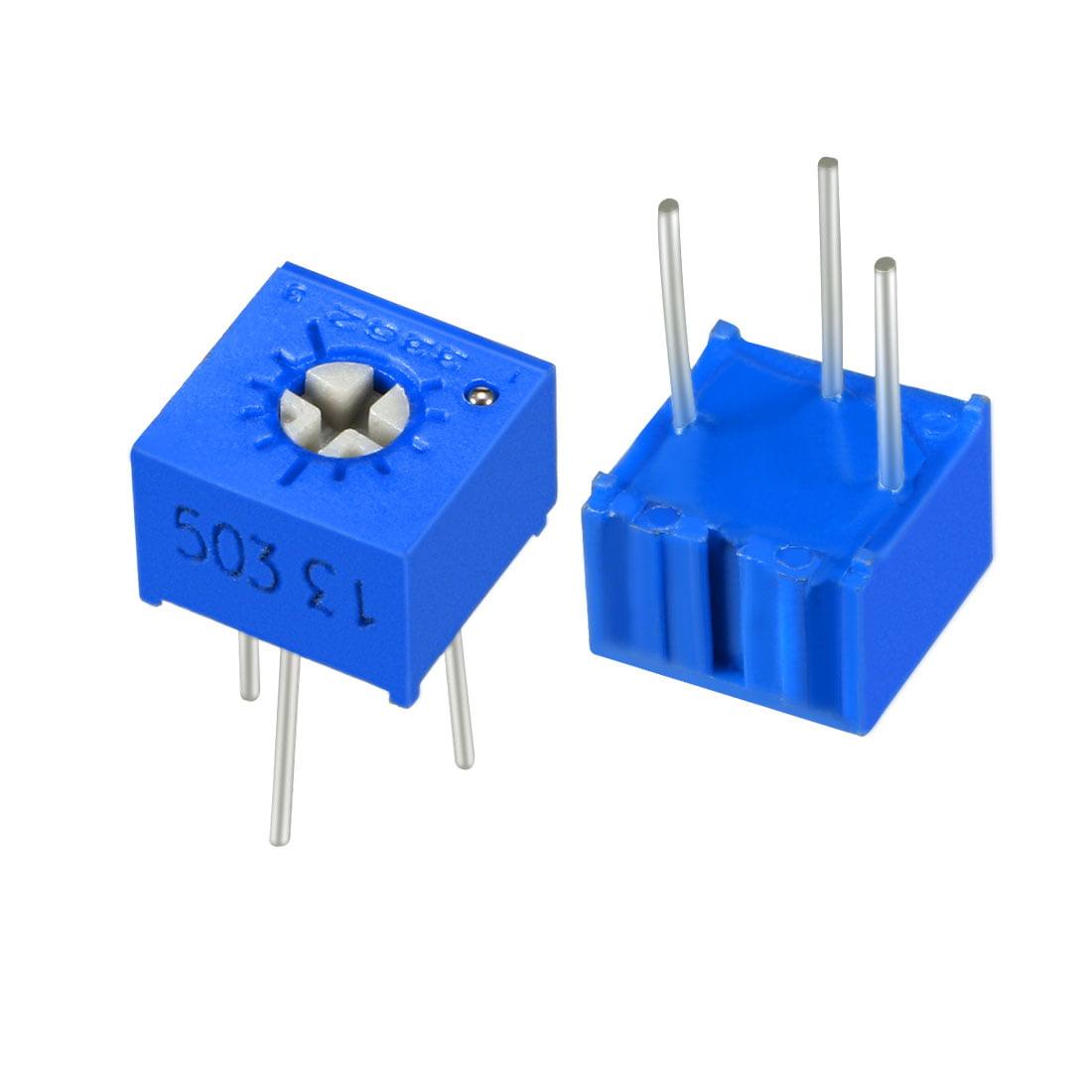 Resistors 50k Ohm Top Adjustment Horizontal Cermet Potentiometer 2 Pcs - image 6 of 6
