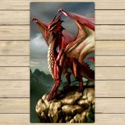 GCKG Sea Dragons And Fire Dragons Art Towels,Beach Bath Pool Sprot Travel Hand Spa Towel Size 30x56 inches