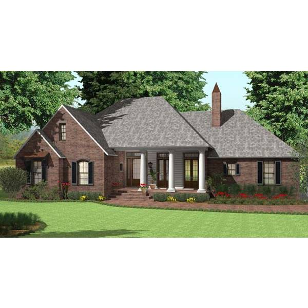TheHouseDesigners-5613 French Country House Plan with Basement Foundation (5 Printed Sets)
