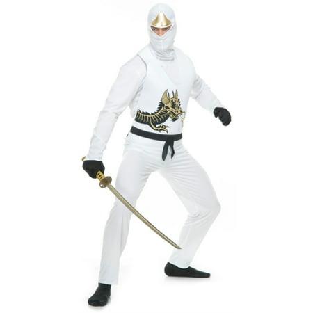 White Ninja (Adult's Mens White Ninja Avenger Series 2 Martial Arts)