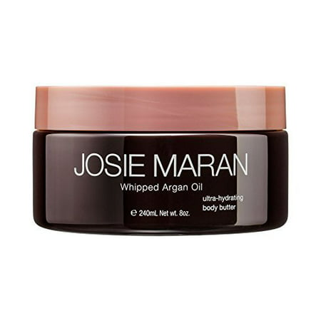 Josie Maran Whipped Argan Oil Ultra-Hydrating Body Butter, Vanilla Bean, 8 Fl