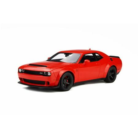 2018 Dodge Challenger Demon Hard Top, Red - GT Spirit GT213 - 1/18 scale Resin Model Toy Car