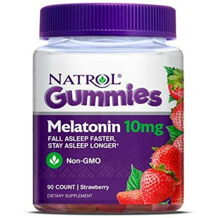 2 Pack - Natrol Melatonin 10Mg Gummy, 90 Count 1 ea