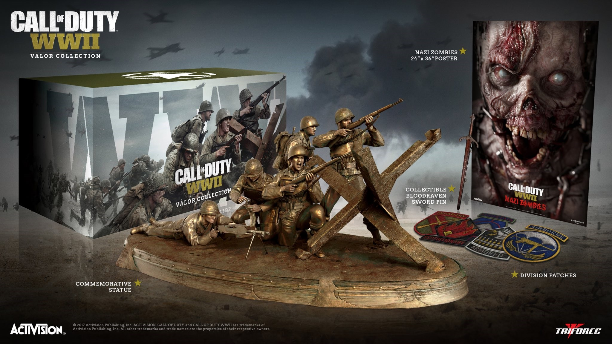 Call of Duty: WWII Valor Triforce Collection (Xbox One) by Cokem International