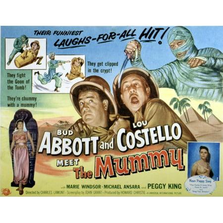 Abbott And Costello Meet The Mummy Lou Costello Bud Abbott 1955 Movie Poster