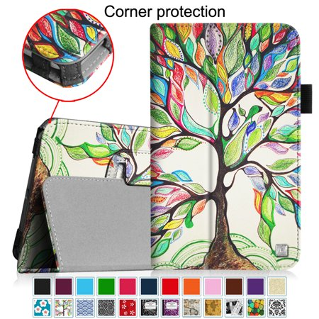Fintie Folio Case Cover for Samsung Galaxy Tab E Lite 7.0 SM-T113 / Tab 3 Lite 7.0 SM-T110 SM-T111 Tablet, Love Tree