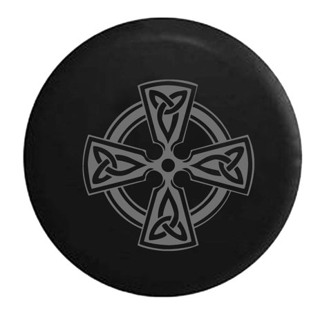 Celtic Warrior Knot (Celtic Cross Knot Irish Shield Warrior Jeep Spare Tire Cover Vinyl Stealth Black 27.5 in)