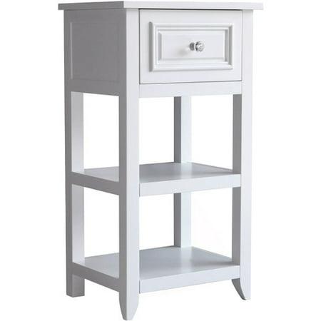 Dawson Floor Cabinet with 1 Drawer White - Elegant Home Fashions