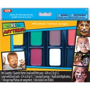 POOF-Slinky Ideal Be Anything! Wild Animals Face Painting Kit, 8-Color Set