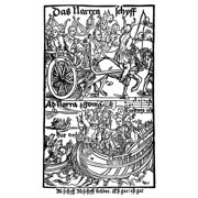 Brant Ship Of Fools Nwoodcut Illustration To Sebastian BrantS Das Narrenschiff (The Ship Of Fools) Published At Basel In 1494 Rolled Canvas Art -  (24 x 36)