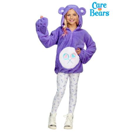 Care Bears Deluxe Tween Share Bear Hoodie Costume - Snl Coneheads Halloween