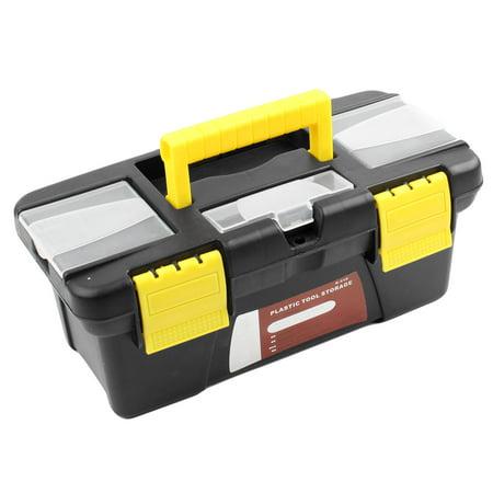 Unique Bargains Hard Plastic Case Diy Hand Tool Storage Box 9 8 X 4 3 X 3 7 W Handle