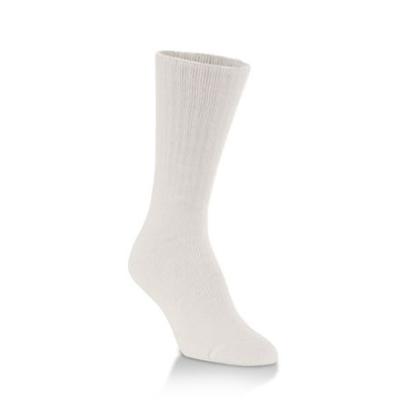 Worlds Softest Socks Classic Collection Medium White Crew Cut