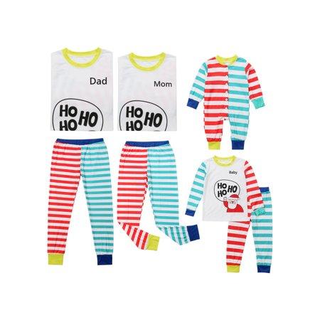 Christmas Family Matching Pyjamas PJS Set Xmas Santa Sleepwear Nightwear Gift ()