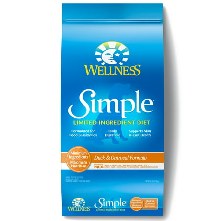 Wellness Simple Natural Limited Ingredient Dry Dog Food, Duck and Oatmeal Recipe, 26-Pound Bag