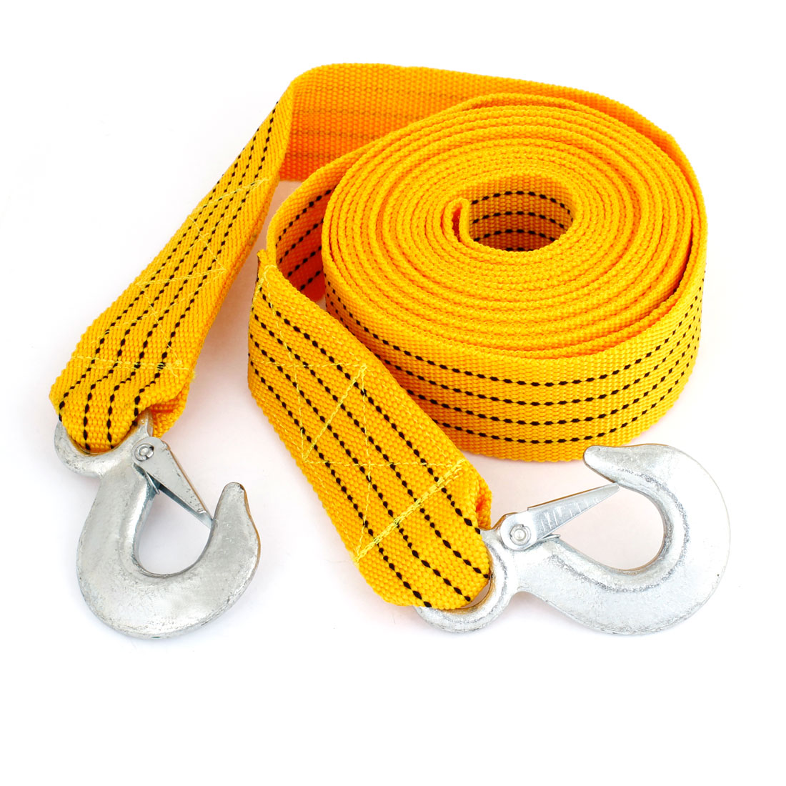 Auto Car Forged Hook Ends 5.5 Meters 3 Tons 47mm Width Towing Strap Belt by Unique Bargains