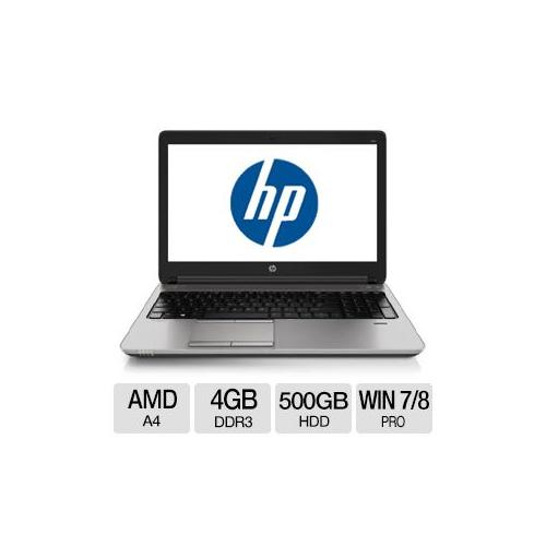 "HP ProBook 655 G1 AMD A4 4GB Memory 500GB HDD 15.6"" Notebook Windows 7 Professional / Windows 8 Pro 64-bit - F2R44UT#ABA"