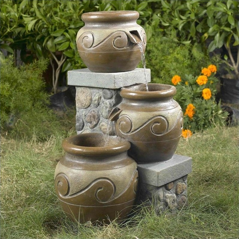 Jeco Venice Multi Pot Outdoor Indoor Fountain by Jeco Inc.