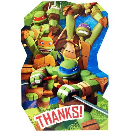 Teenage Mutant Ninja Turtles Thank-You Notes - Ninja Turtle Birthday Card