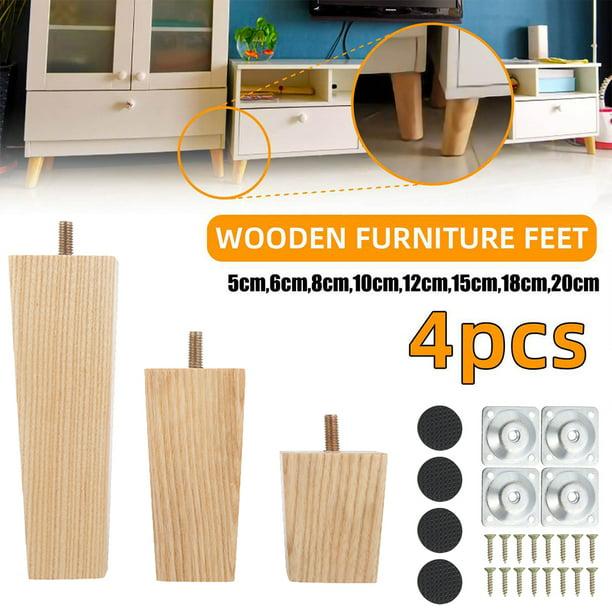 4PCS Height Sofa Legs Wooden Furniture Legs Replacement Armchair Cabinet Feet