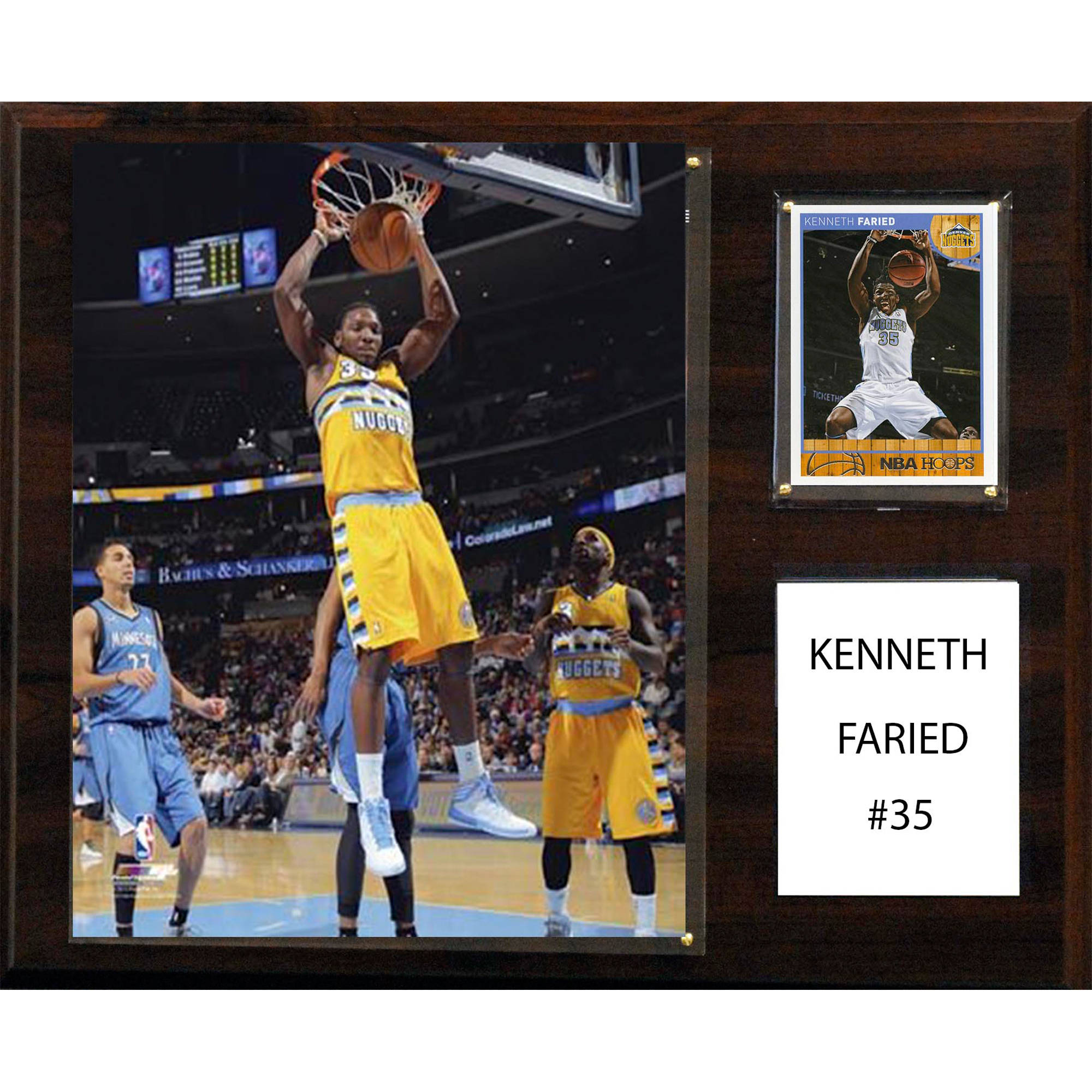 C&I Collectables NBA 12x15 Kenneth Faried Denver Nuggets Player Plaque