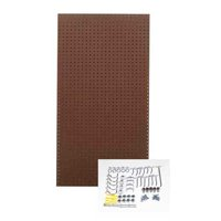 Triton Products Brown Tempered Wood Pegboard Kit with 36 Hooks