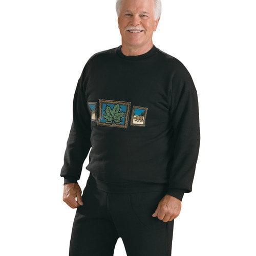 Silvert's Men's Fleece Top in Black