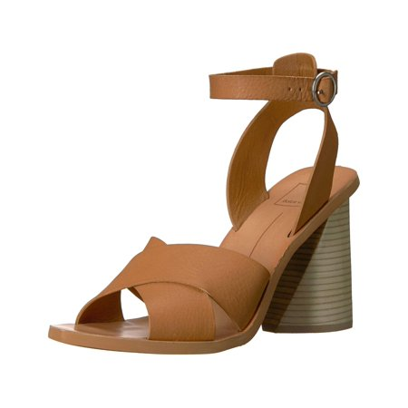 Dolce Vita Women's Athena Heeled Sandal, Caramel Leather, Size 7.5