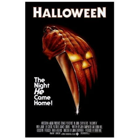 Halloween Movie POSTER 27 x 40 Donald Pleasence, Jamie Lee Curtis, A, MADE IN THE U.S.A., PRODUCED IN AND SHIPS FROM THE U.S.A. ON POSTER PAPER By - Halloween Movie With Jamie Lee Curtis