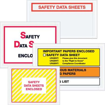 Tape Logic PL496 5 .5 x 10 in. 2 Mil Poly Printed Clear Documents Enclosed Transportation Envelopes - image 1 of 1
