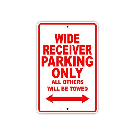 Wide Receiver Football Player Parking Only Gift Decor Garage Aluminum 8