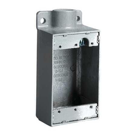 Device Box,47.0 cu. in Capacity,Gray HUBBELL KILLARK FD-1