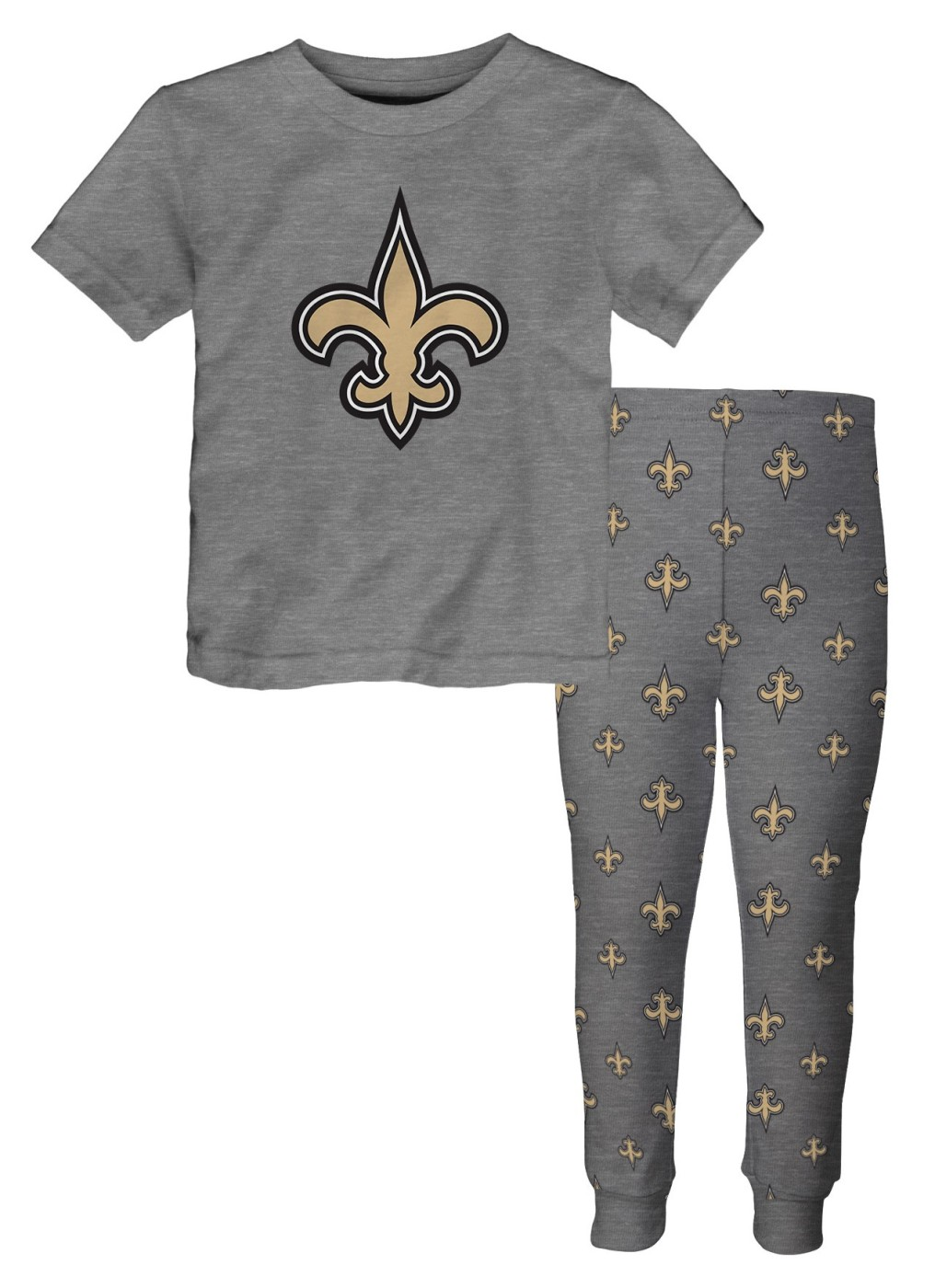 "New Orleans Saints Youth NFL ""Overtime"" Pajama T-shirt & Sleep Pant Set by Outerstuff"