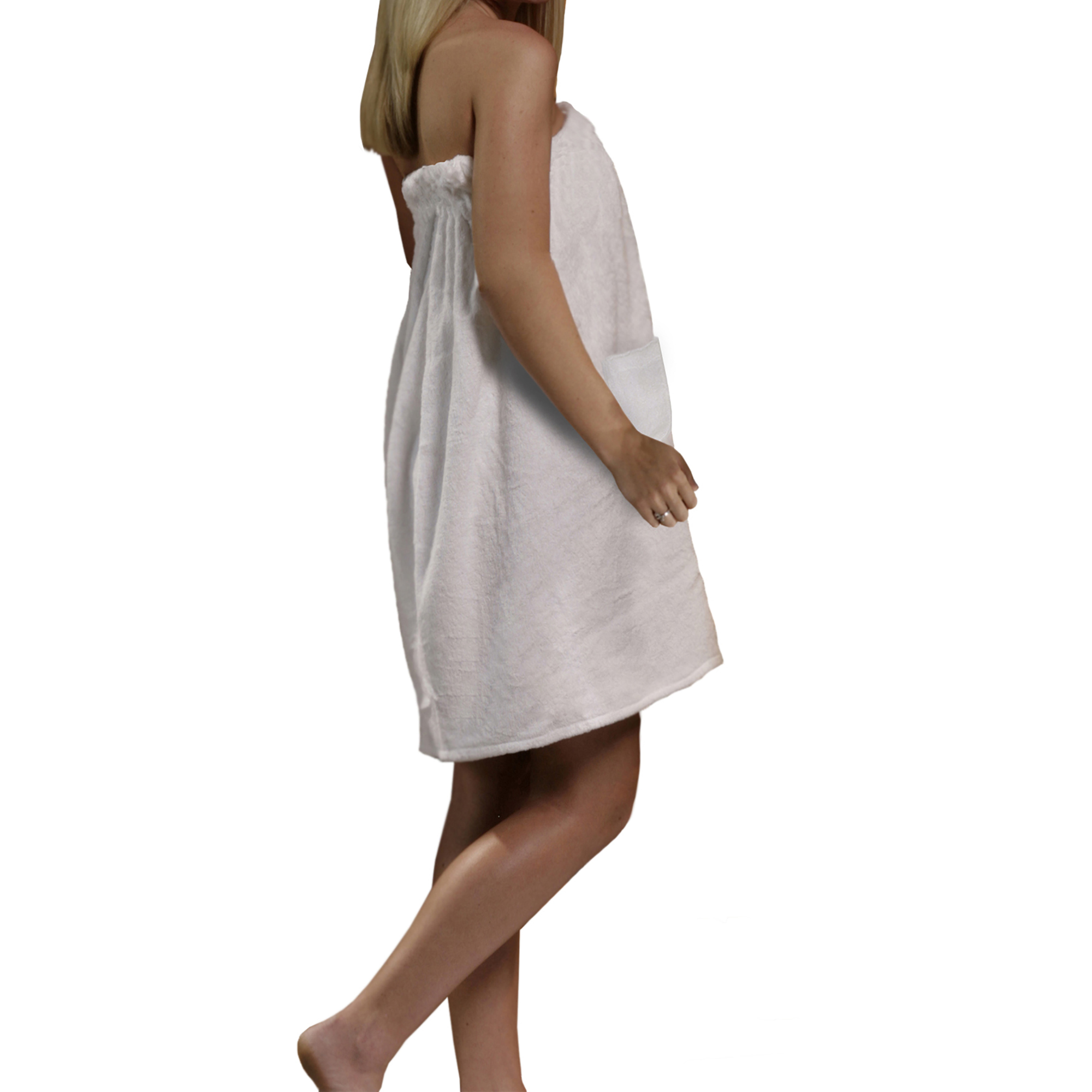 Radiant Saunas Women's Spa & Bath Terry Cloth Towel Wrap White by Blue Wave