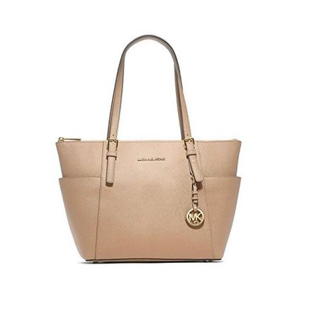 Women's Jet Set East West Top-Zip Leather Shoulder Tote