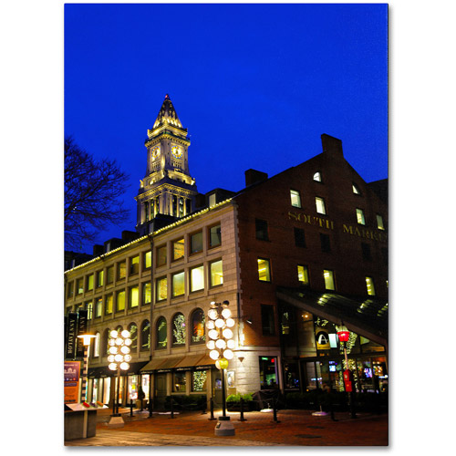 "Trademark Fine Art ""Boston 3"" Canvas Art by CATeyes"