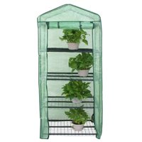Zeny Anti-UV PE Cover MIni Walk-in Outdoor Indoor Green house - Grow Seeds, Plants, Flowers, Freestanding 4 Tiers Waterproof Gardening GreenHouse