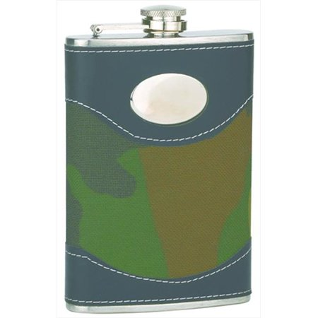 FJX Wholesale HFL-W008M 8oz Camouflage Engrave Stainless Steel Hip Flask