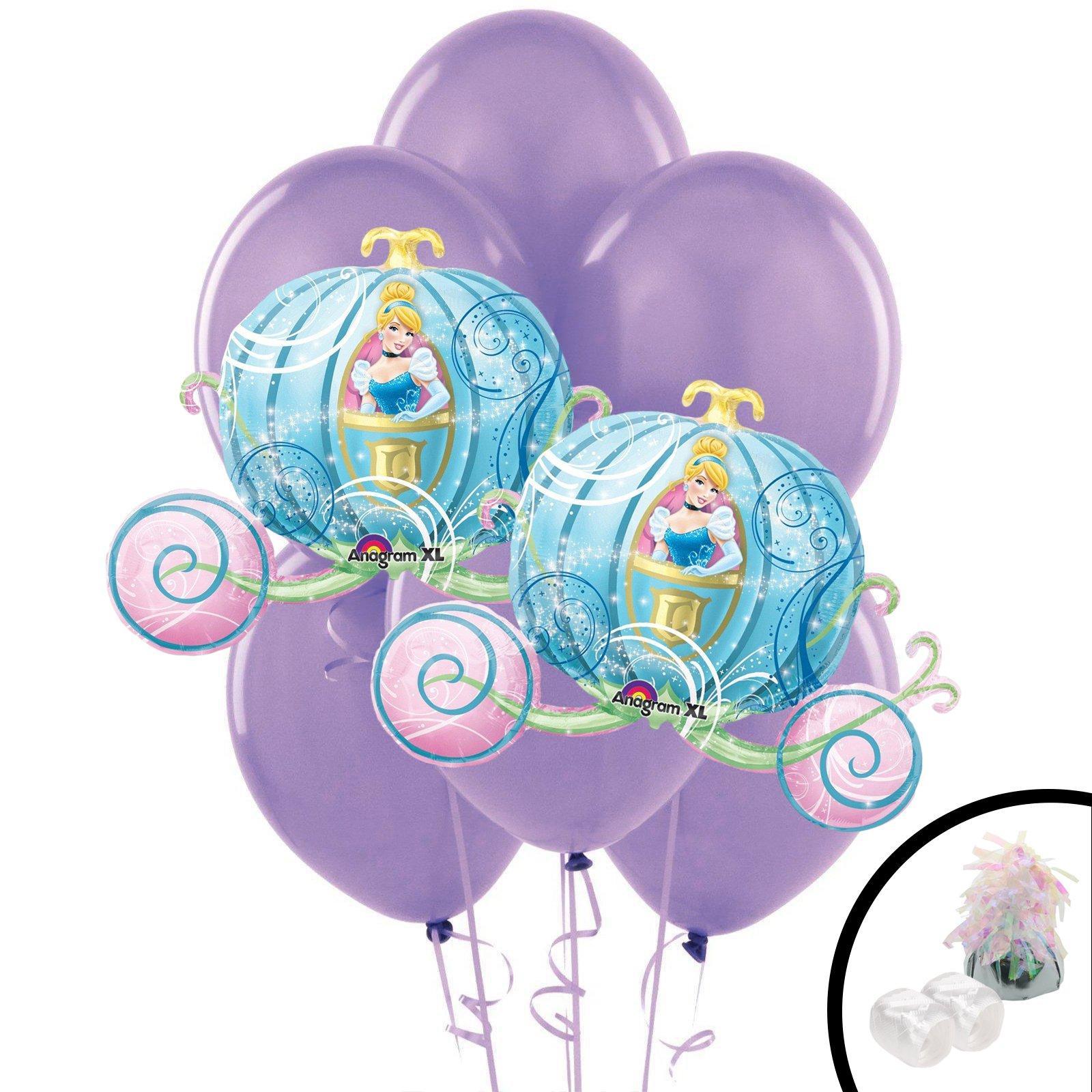 Cinderella Princess Carriage Jumbo Balloon Bouquet