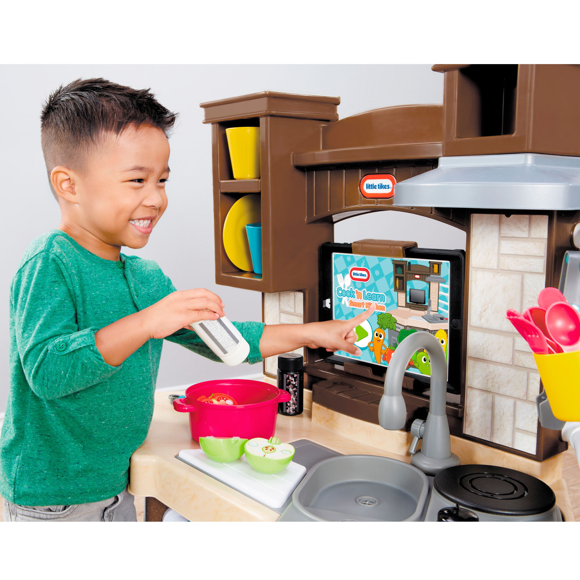 Little Tikes Cook N Learn Smart Play Kitchen With 40 Piece Accessory Play Set And 4 Play Modes Walmart Com Walmart Com